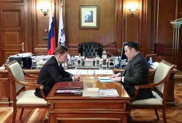 Газификация Тверской области продолжается: Руденя встретился сМиллером