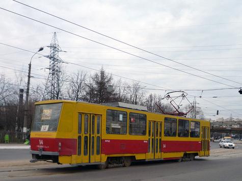 Тверь, трамвай Tatra T6B5SU 14.